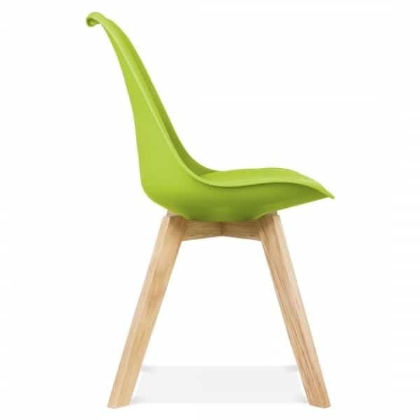 Nice Apple Green Dining Chairs, Solid Oak Crossed Legs Inspired By Eames