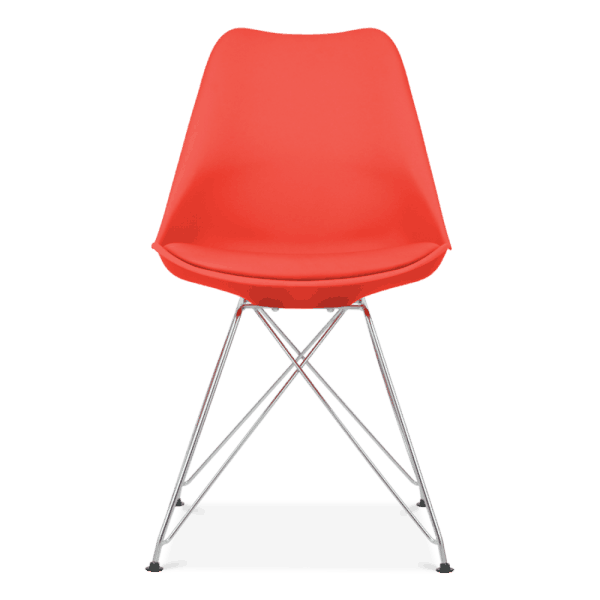 Red Eiffel Dining Chair, Eames Inspired
