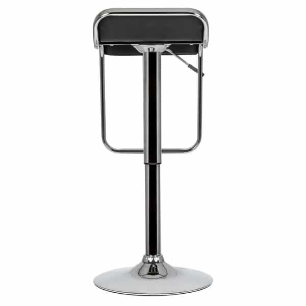 Black Swivel Bar Stool 600 840mm Chrome Black Design