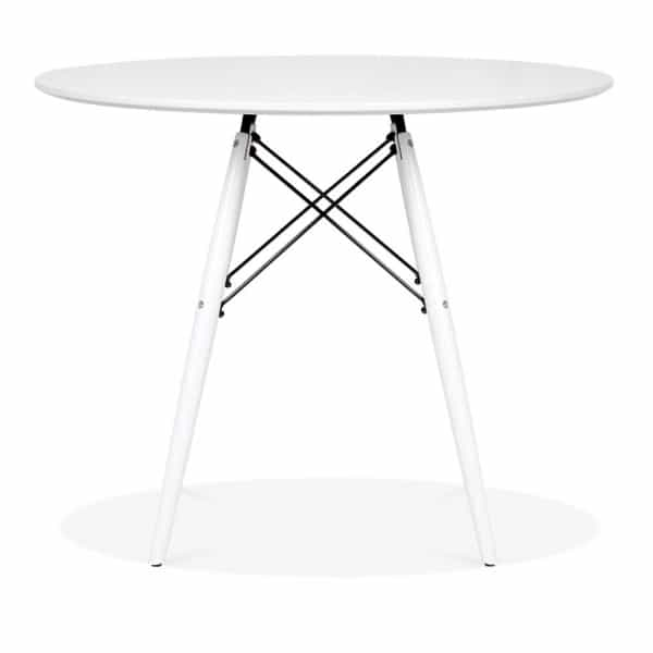 Dsw Round Dining Table White Top Leg Finish