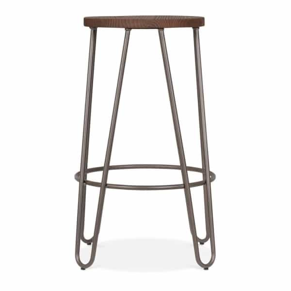 Rustic Hairpin Stool