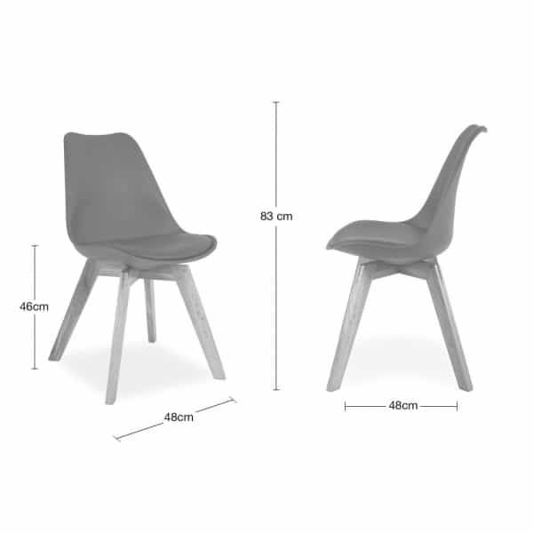 Cream Dining Chairs Solid Oak Crossed Legs Inspired By Eames