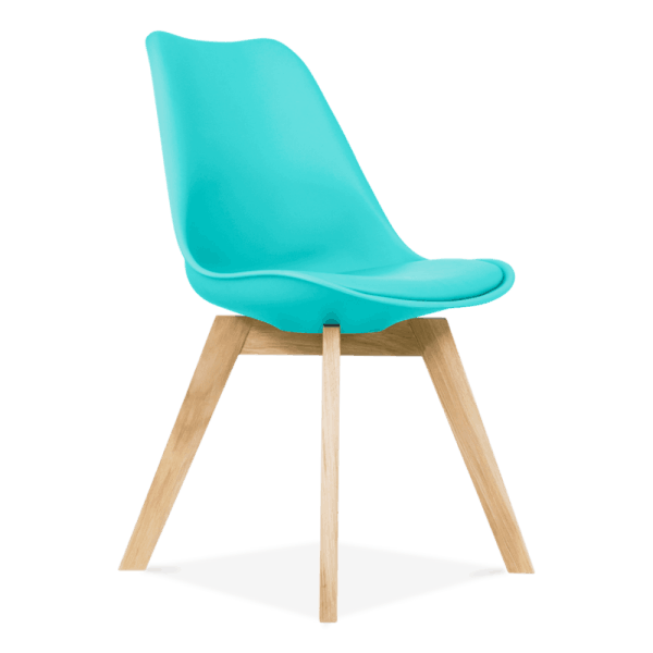 Awesome Turquoise Dining Chairs Solid Oak Crossed Legs Inspired By Eames Gmtry Best Dining Table And Chair Ideas Images Gmtryco