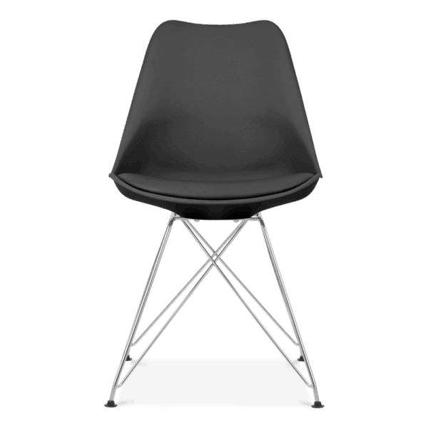Black eiffel dining chair eames inspired black with for Design furniture replica ireland