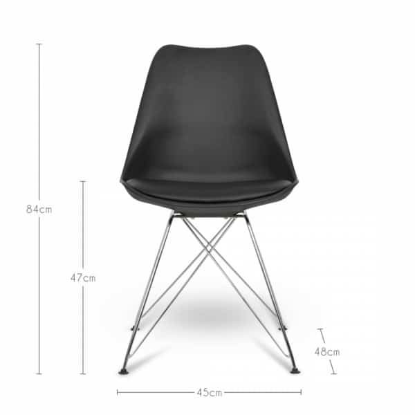 Black Eiffel Dining Chair, Eames Inspired