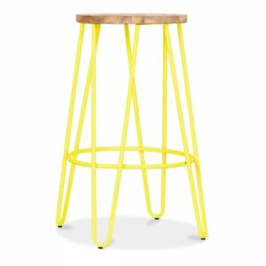 Yellow Hairpin Stool