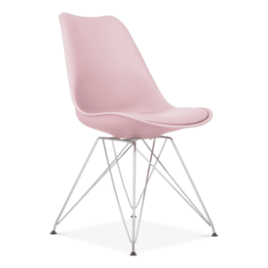 Pink Eiffel Dining Chair, Eames Inspired