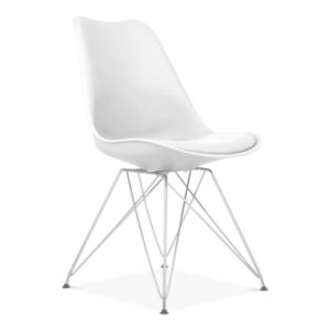 White Eiffel Dining Chair, Eames Inspired