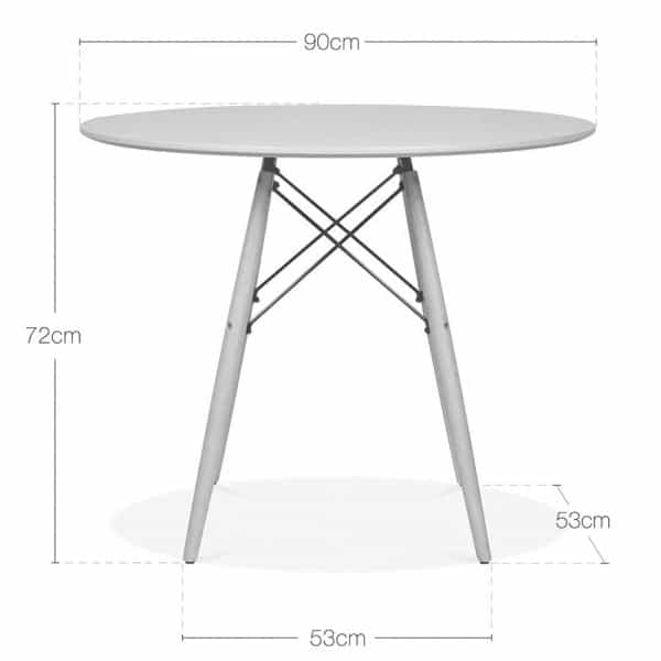 Dsw Round Dining Table Grey Top Walnut Legs Eames Inspired