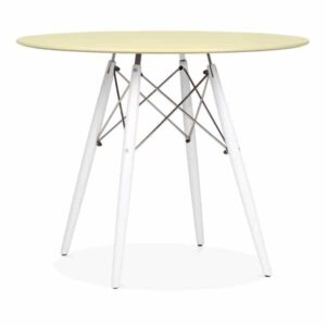 DSW Round Dining Table - Lemon White