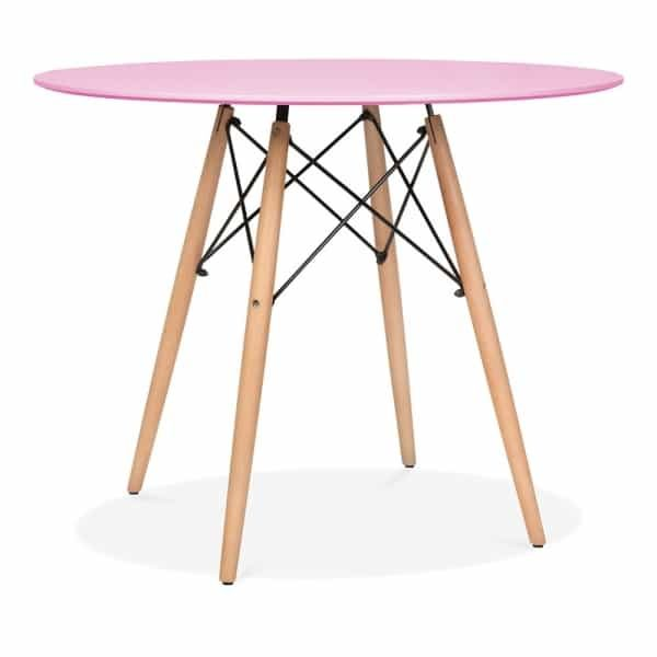 DSW Round Dining Table - Pink Natural