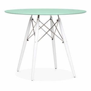 DSW Round Dining Table - Peppermint White