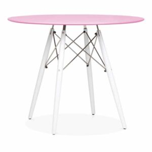 DSW Round Dining Table - Pink White