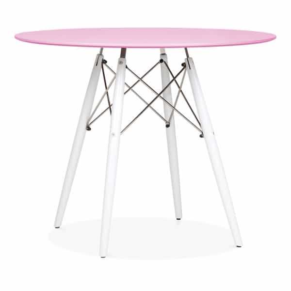 Pink Round Table.Round Dining Table Pink White 900mm Eames Inspired