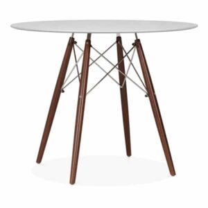 DSW Round Dining Table - Grey Top Walnut Leg Finish