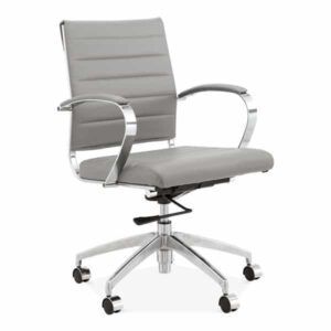 Deluxe Office Chair - Short Back Design - Grey