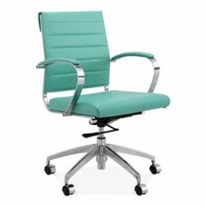 Deluxe Office Chair - Short Back Design - Turquoise