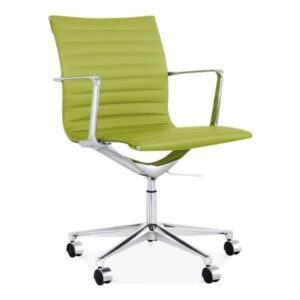 Ribbed Office Chair - Short Back Design - Apple Green
