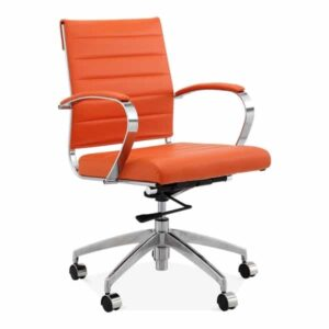 Deluxe Office Chair - Short Back Design - Orange