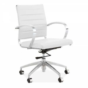 Deluxe Office Chair - Short Back Design - White