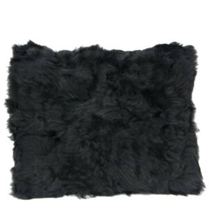 Black Sheep Fur Cushion Pillow