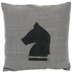GIE Black Grey Horse Print Cushion 50x50