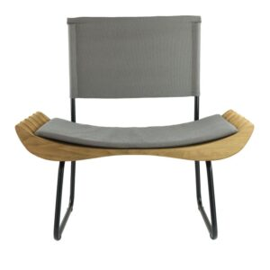 Organique Armchair Gie El Grey, Natural Wood