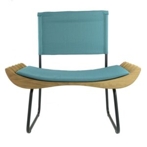 Organique Armchair Gie El Turquoise Natural Wood