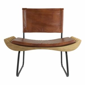 Organique Armchair Gie El Leather Natural Wood
