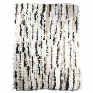 GIE EL 'Recycled' Natural Fur Rug - Bright Melange 100x160cm