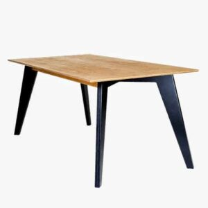 HUH Dining Table - Oak Oiled, Black Legs 75x150cm