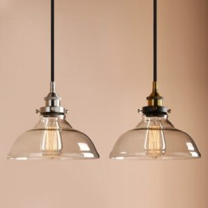 Clear Glass Edison Retro Industrial Pendant Light Loft Ceiling Lamp